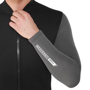2mm men black top wetsuit