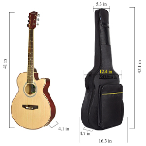 CAHAYA acoustic guitar bag 40 41 inch padded backpack