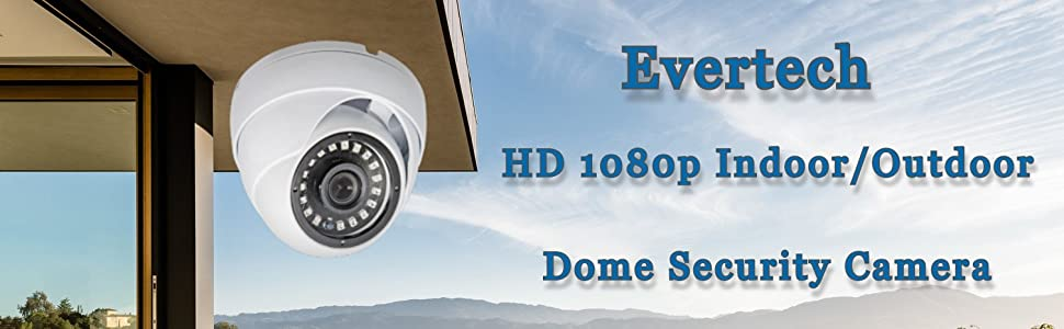 small dome security camera evertech 1080p hd high resolution