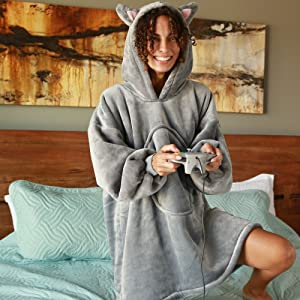 Details about  /Dalmatian Dog Mom Dad Gift Hooded Sherpa And Microfiber Blanket With Hood