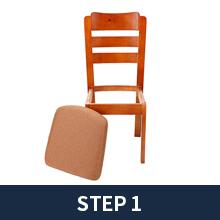 Move the chair cushion