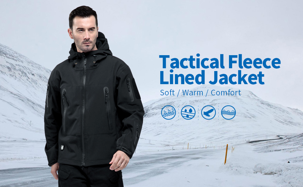 Messieurs Tactical Veste hiver Coat Army Military Jacket Loisirs Windbreaker Hood