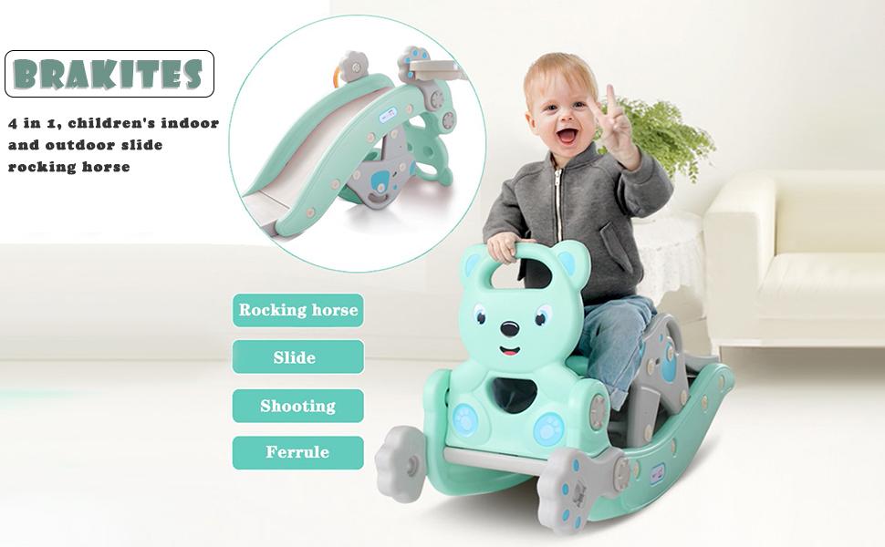 Rocking Horse IGLU Brand Rocker for Kids Activity Toys Soft Play Equipment Rocker Banana Pink