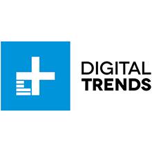 digital trends, logo, blue, black