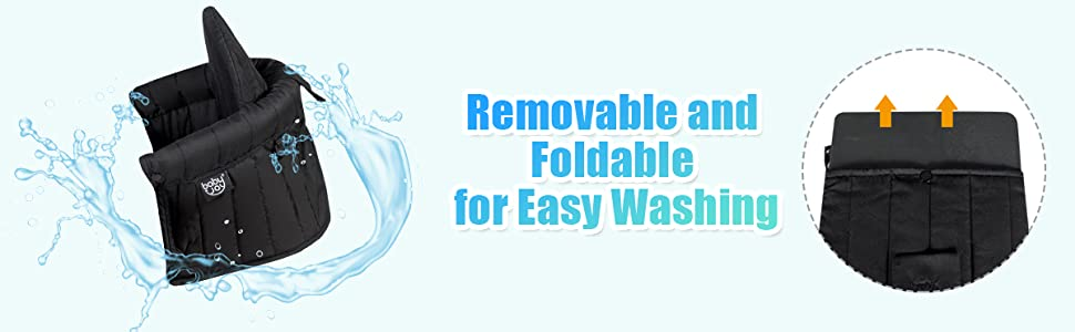 removable and foldable design for easy washing