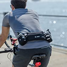 Cycling with G Run Hydration Running Belt