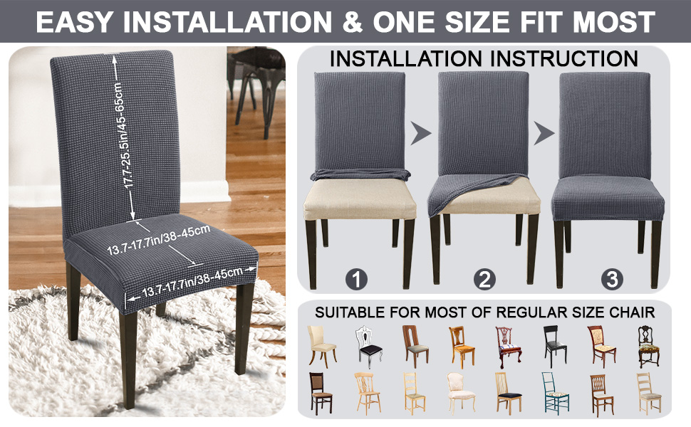 Suitable for most of  regular size chair