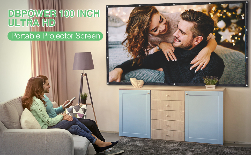 DBPOWER Projector Screen 100 inch