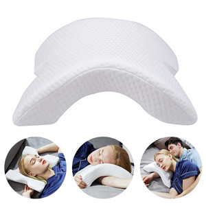 Cool Ice Silk Chiropractic Vented Cervical Vertebra Comfortable Anti-Pressure Hand Slow Rebound Pressure Pillow for Side Sleepers Hand Neck Protection 2 Pack BEAUTRIP Memory Foam Arched Pillow
