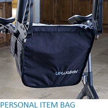 Upwalker, UPWalker upright walker, walker, walk upright, bag, tote bag, tote, stability, certified