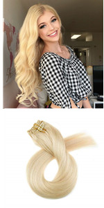 120g Clip in Human HairExtensions