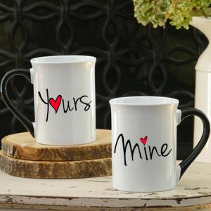 love mugs yours mine mugs mug sets heart mugs cottage creek