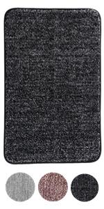 Maschinenwaschbare und Handwaschbare Badematte JAMITE 50 x 80 cm rutschfeste Chenille-Badedecke Nebelblau Duschen und Badezimmer Saugf/ähige Badedecke Helle Mikrofaser f/ür Badewannen