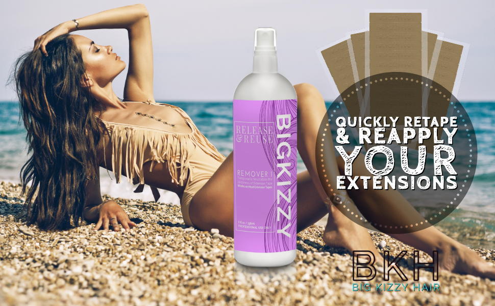 Big Kizzy Extension Tape Hair Extension Remover