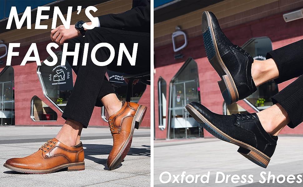 men's fashion dress shoes arkbird genuine leather black brown