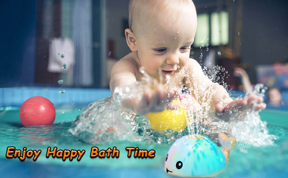 Whale bath toy toddler bath toy toddler toy baby toy bath toys for toddlers 1-3 water spray toy