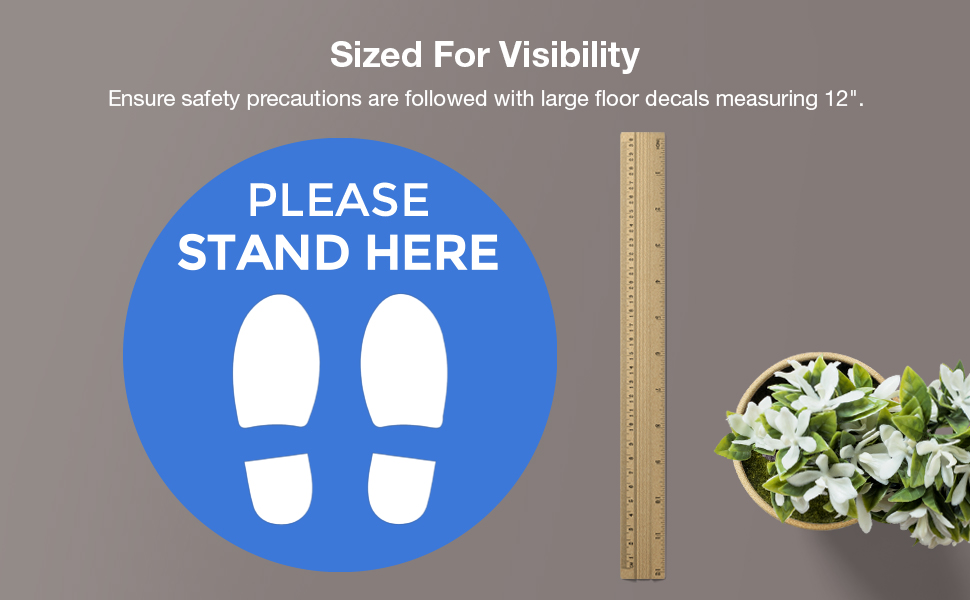 Social Distancing Floor Signs Limited time for free shipping ...