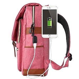 USB Charging Port Backpack