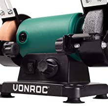 VONROC Amoladora de banco Multiherramienta 150W Incluye 192 accesorios 75mm con eje flexible