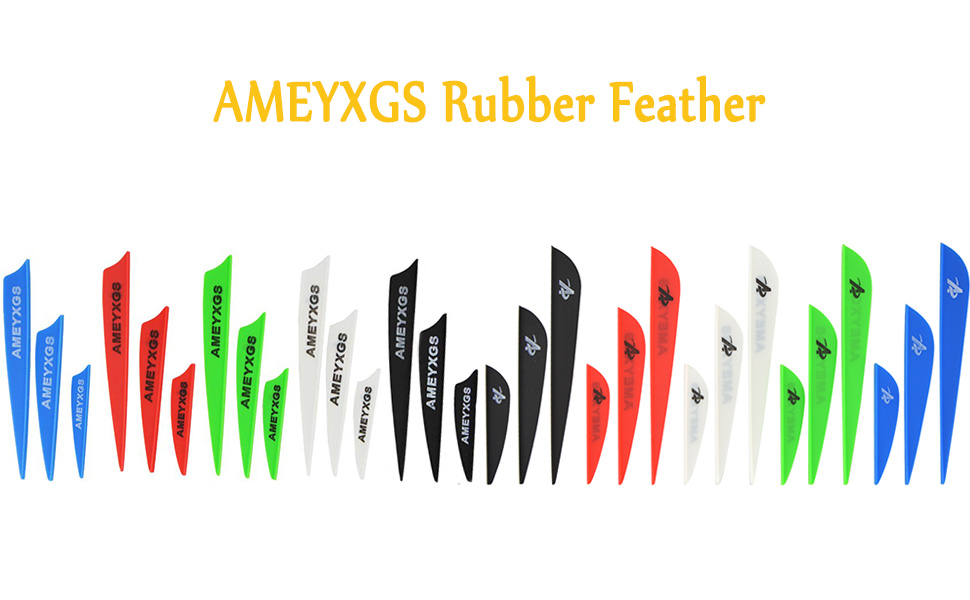"""Details about  /50pcs 2/"""" 3/"""" 4/"""" Archery Arrow Fletches Vanes Rubber Feather Fletching Water Wing"""