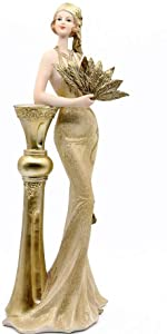 Golden Pillar Leaning Figurine