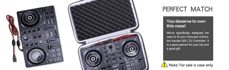 LTGEM Hard Case for Hercules DJControl Inpulse 200 | Portable USB DJ Controller