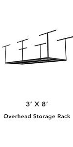 3x8 overhead storage rack