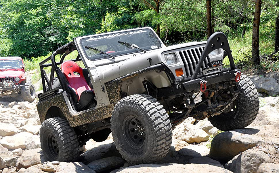 Jeep 4 Inch Lift >> Rough Country 620n2 4 Lift Kit Compatible W 1987 1995 Jeep Wrangler Yj W Power Steering W N3 Shocks Suspension System