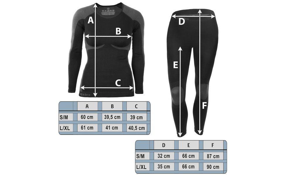 Respirants r/échauffants et /à s/échage Rapide ALPIDEX Femme sous-v/êtements Thermique Femme Fonctionnels pour Femmes sous-v/êtements de Ski