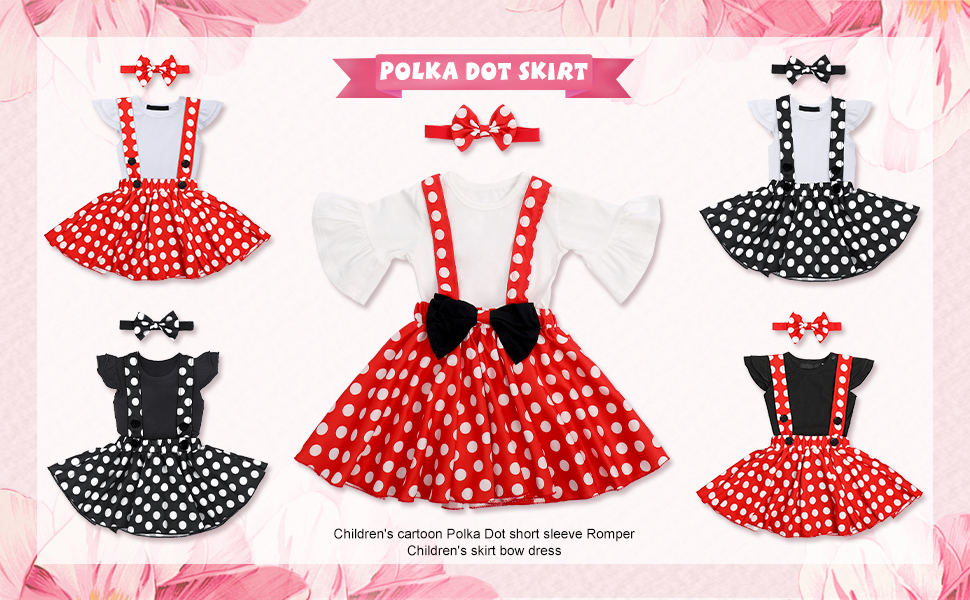 Baby Minnie Polka Dots Outfit
