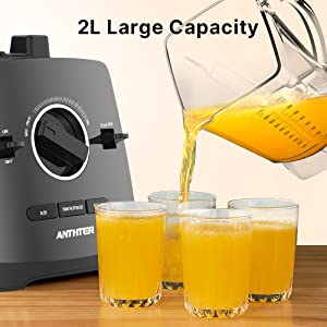 2L 68oz large capacity BPA-free pitch cup family using children drinks baby food fruit juice