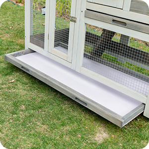 rabbit hutch pet cage double easy clean grey with bottom guinea pig cage rabbit bunny hutch indoor