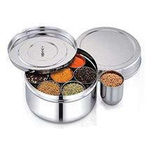 especias para chefs caja de especias de acero inoxidable caja de especias indias Caja de acero inoxidable para especias Masala caja de especias de acero inoxidable especias de cocina