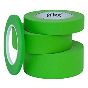 """1 roll each 1/4"""" 1"""" 1.5"""" 2"""" painters masking tape"""