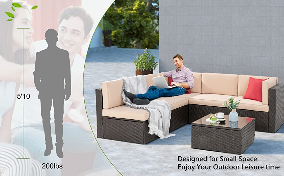 small outdoor sectional sets