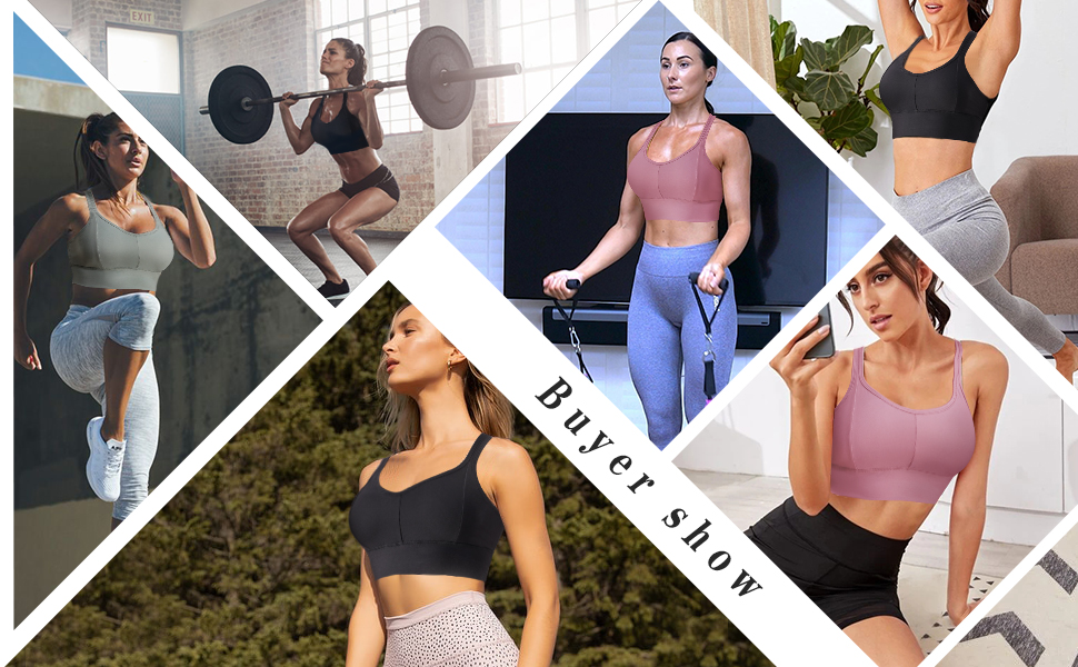Comfortable Sports Bra with Removable Pads Seamless Wirefree Padded Racerback Workout Gym Yoga Bras