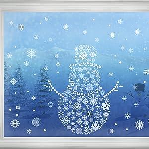winter white snowflakes