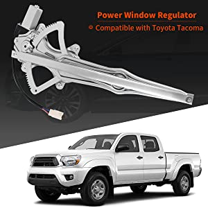 A-Premium Power Window Regulator with Motor Compatible with Toyota Tacoma 2005-2018 Front or Rear Driver Side