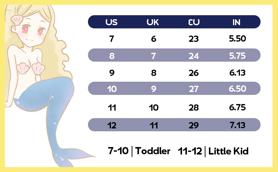 size toddler