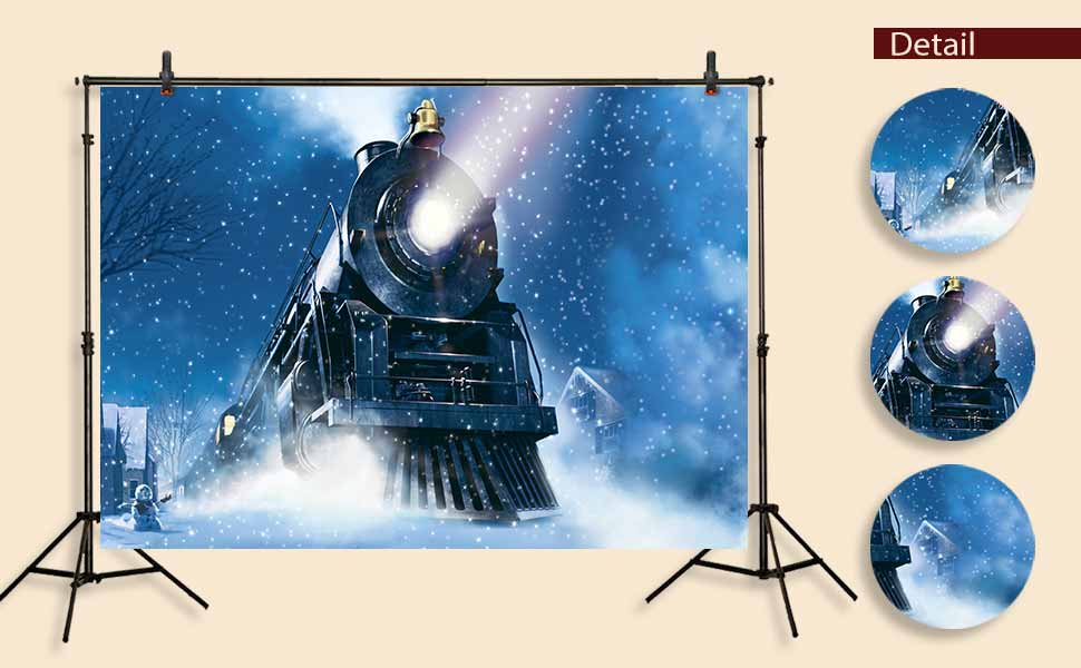 HD Railway Photography Backdrop Staggered Rails Dry Tree Bridge Sky Background Photographic Kiosk Studio Props Shoot Video Curtain Background 7x5ft MT249