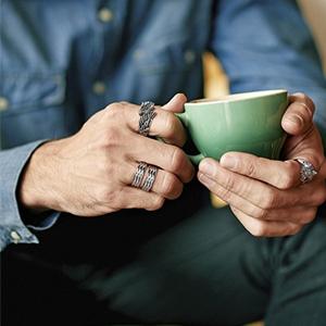 Trendy & Stylish Stainless steel rings for men