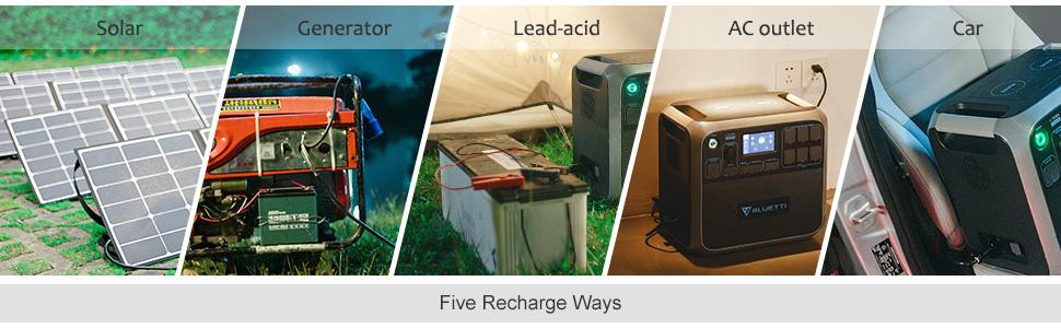 solar generator portable power station portable generator solar power storage camping van rv backup