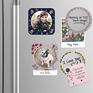 Magnetic Picture Holder, Picture Frame, Fridge Magnets Dry Erase Board, Picture Frame Write Notes