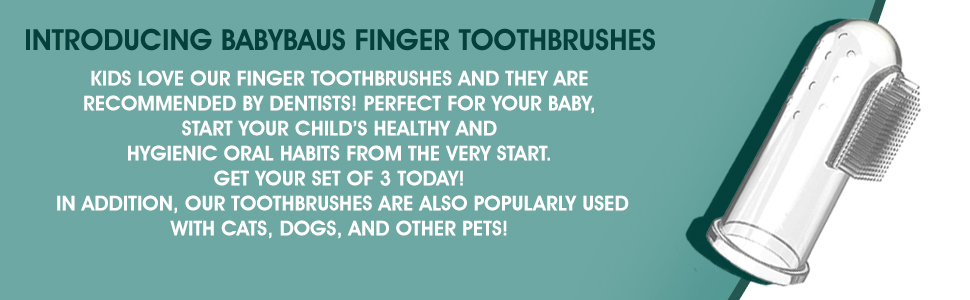 FINGER TOOTHBRUSH FOR DOGS CATS AND OTHER PETS