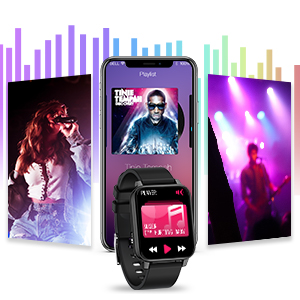 Rogbid smart watch Rowatch 2 music controller