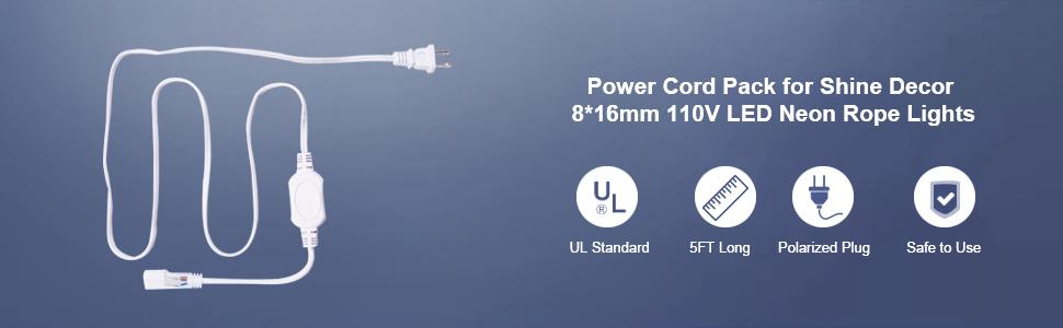 shine decor power cord