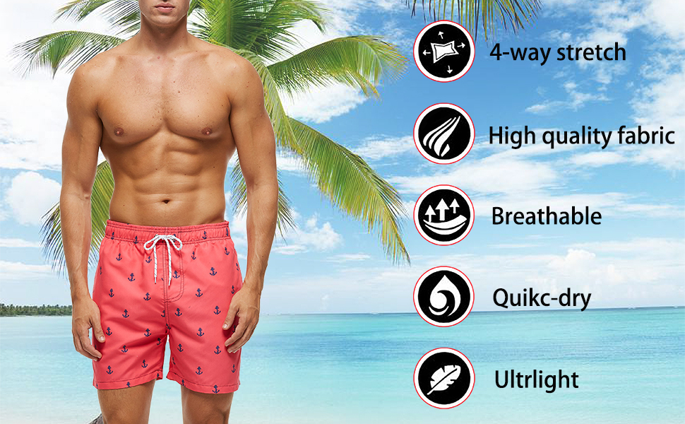 mens short swim trunks surfing beach board shorts novelty swimwear quick dry running home swimsuit