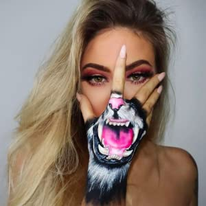Halloween facepaint makeup adult woman cosplay camo festival party hypoallergenic