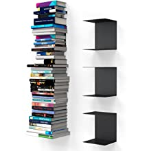 bookshelf book shelves metal floating racks invisible
