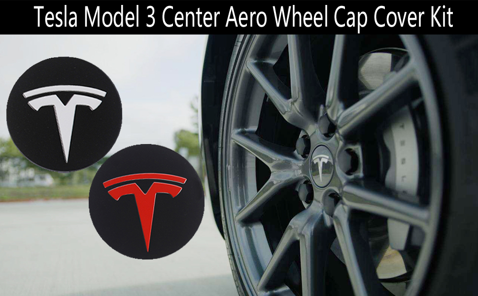 Carbon Fiber Wheel Center Hub Cap Cover Center Rim Cap for Tesla Model 3 X S 2017 2018 2019 Gray